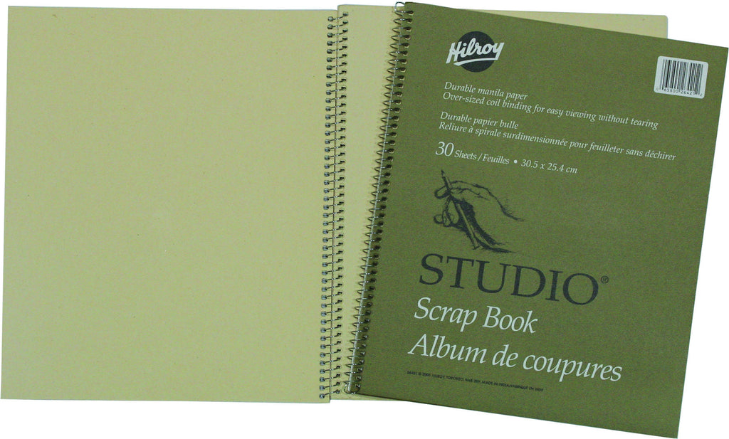 Scrapbook, Coil Bound, 12 x 10 in x 60 pgs (30 shts)