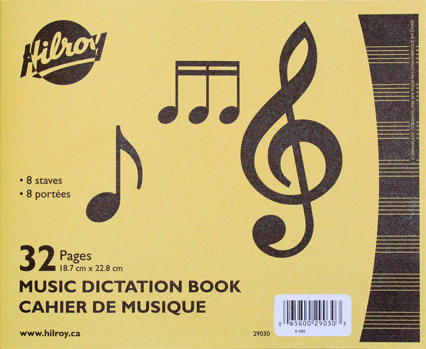 Exercise Book, Music Dictation Notebook - 32 pgs