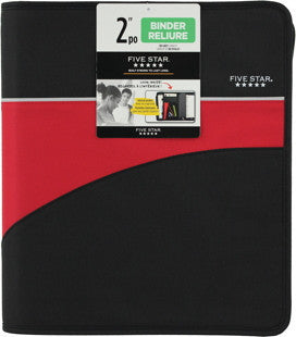 Binders, 5 Star Zipper - 2 in, w/inside pockets