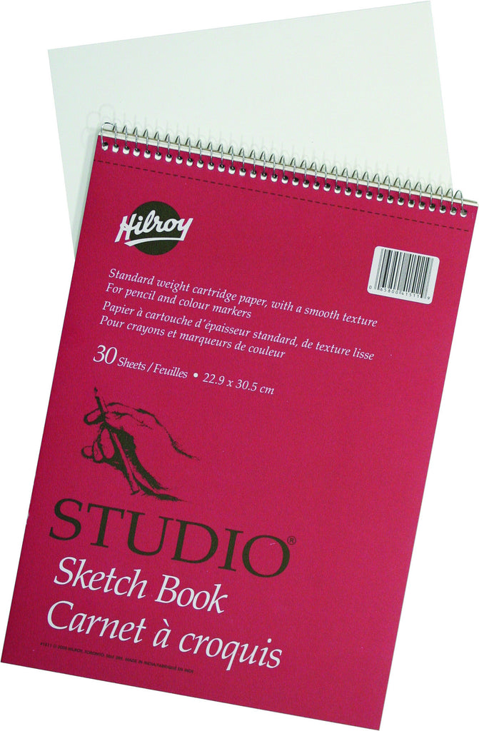 Sketchbook, Coil Bound, 30 shts, perforated (22.8 x 30.4cm)