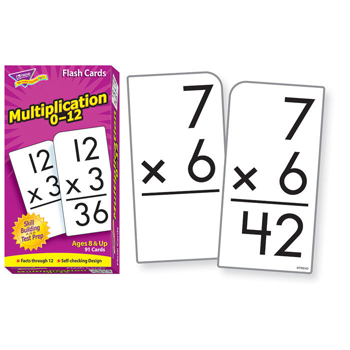 Flash Cards, Multiplication 0-12