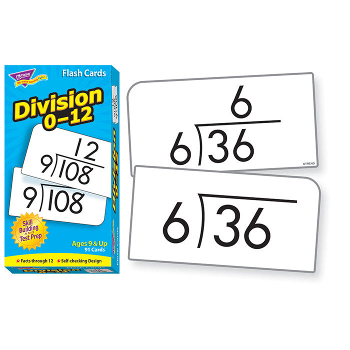 Flash Cards, Division 0-12