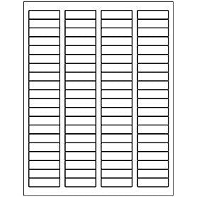 Labels, 80 BLANK labels (.5 x 1.75 in)