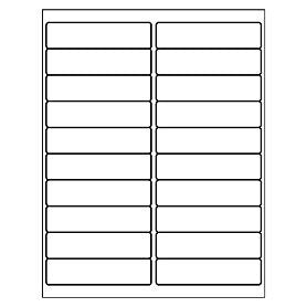 "Labels, BLANK, 4"" x 1"" x 20 labels"