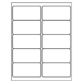 "Labels, BLANK, 4"" x 2"" x 10 labels"