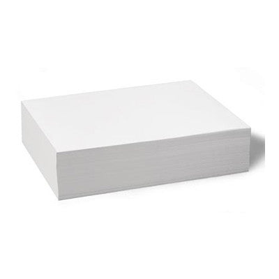 Plain Paper, White - No Holes (8.5 x 11 in), 100 shts