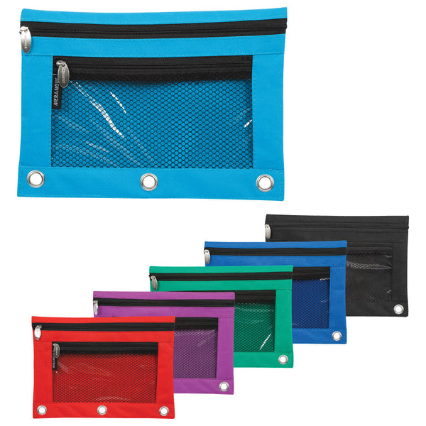 Pencil Pouch, with Front Pocket - Fits Binder