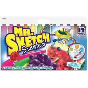 Markers, Mr. Sketch Scented JUMBO Chisel Pt. (12)