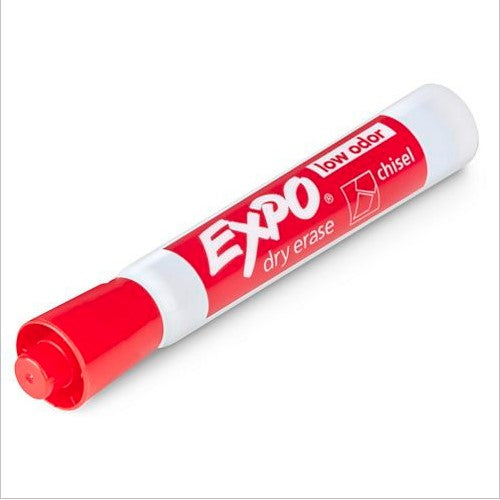 Markers, Dry Erase Low Odor Chisel Tip - Red