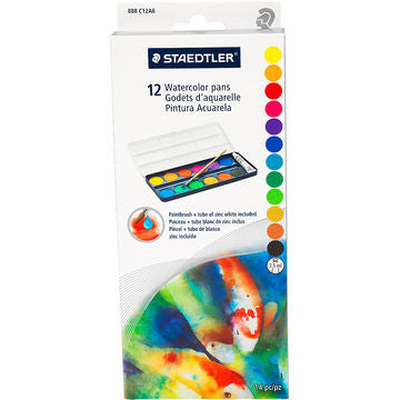 Paint Disc Set, Watercolour, 12 disc set
