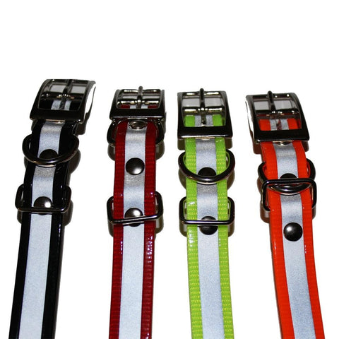 3/4 Reflective Biothane Buckle Collars