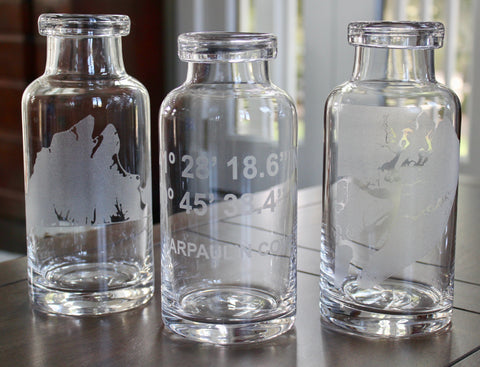 Custom Engraved Glass Carafe