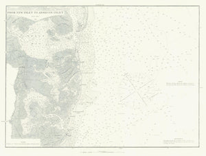 Absecon Inlet Historical Map - 1881