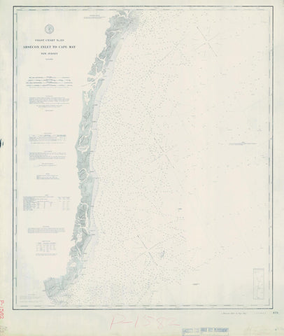 Absecon Inlet to Cape May Historical Map - 1880