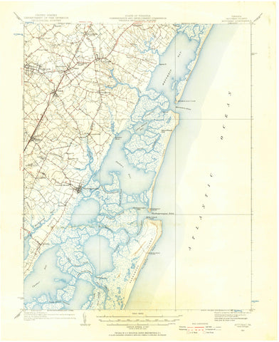 Accomac, Virginia Map - 1931