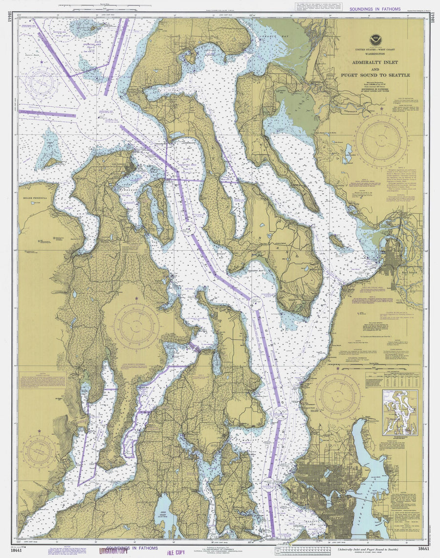 Puget Sound & Admiralty Inlet Map 1983