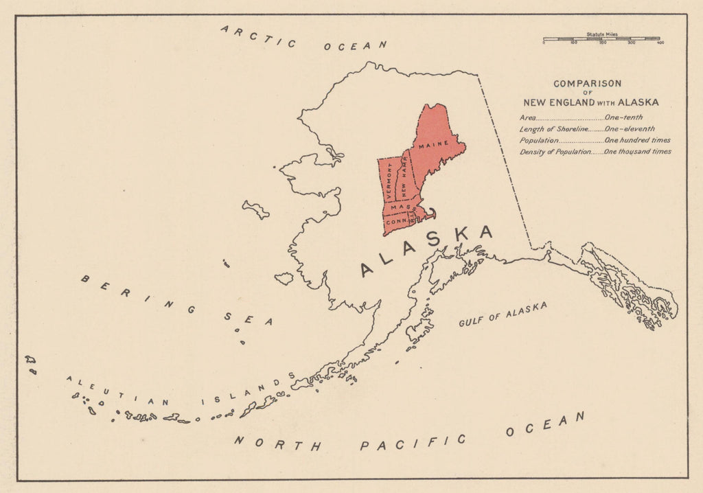 Alaska and New England Comparison