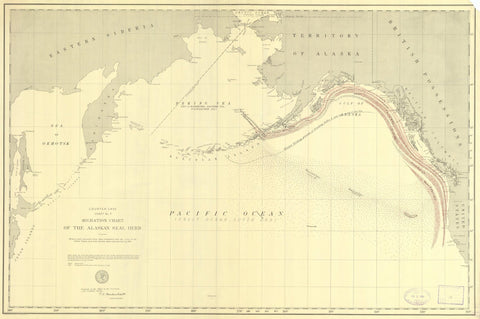 Alaska Seal Migration Map - 1892