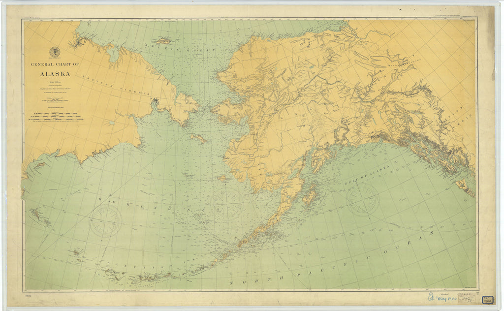 Alaska & USSR Historical Map - 1900