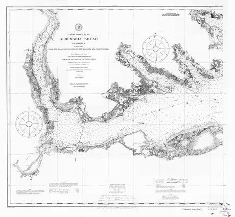 Albemarle Sound Map - 1909