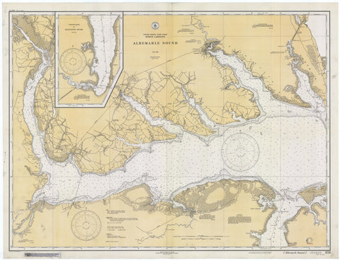 Albemarle Sound Historical Map - 1933