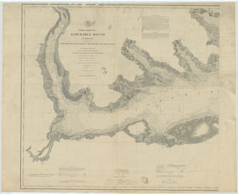 Albemarle Sound Historical Map - 1880