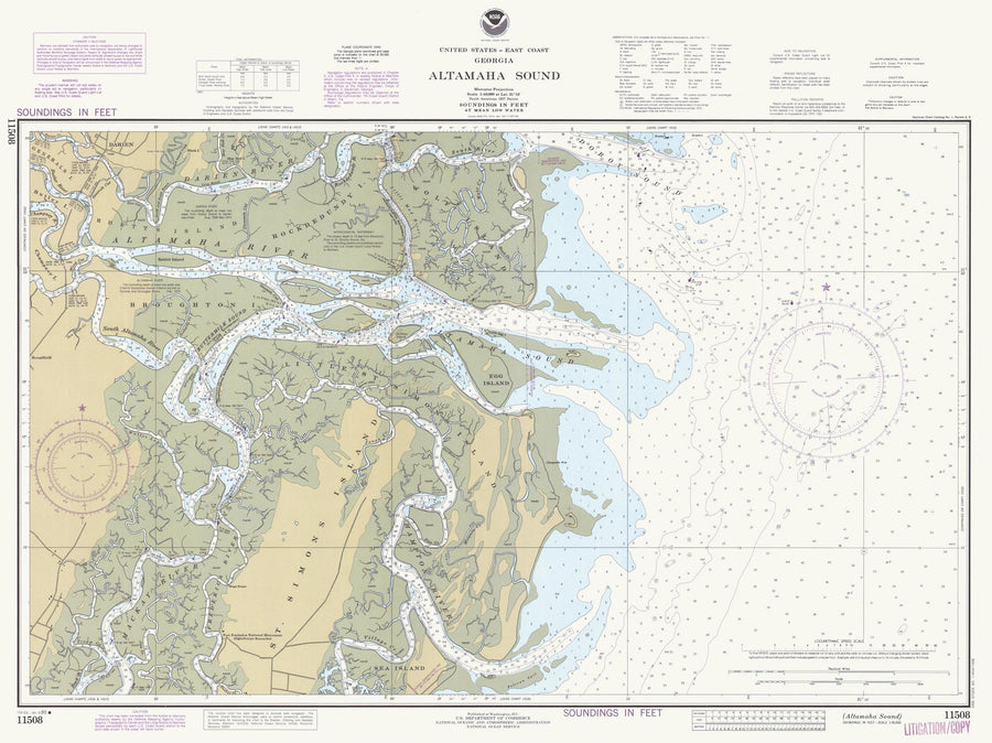 Altamaha Sound Map 1985
