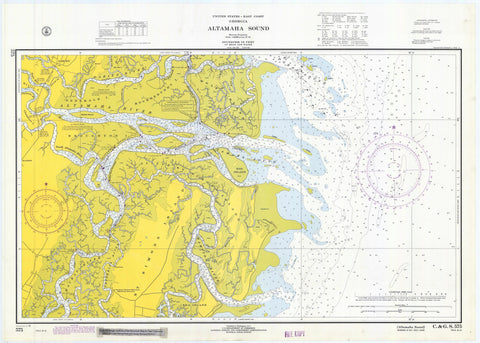 Altamaha Sound Historical Map 1970