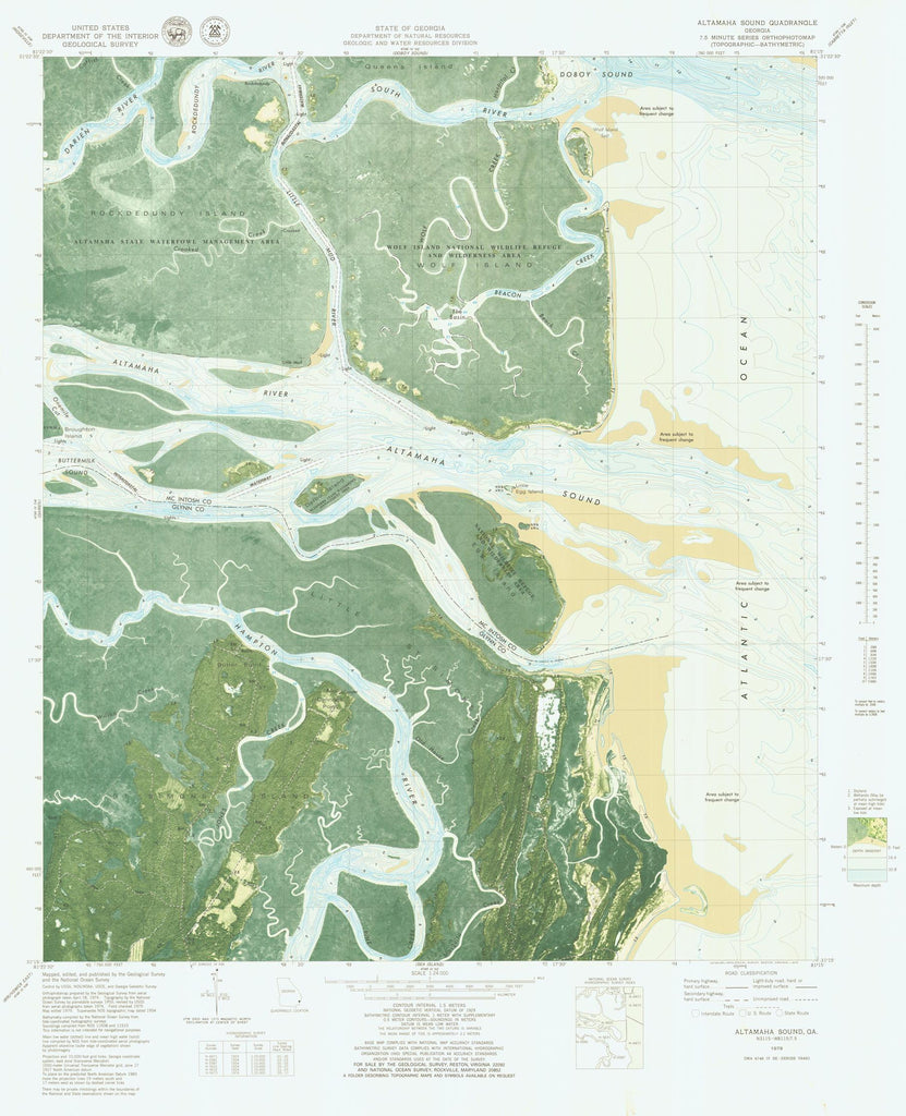 Altamaha Sound Map 1979