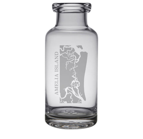Amelia Island Engraved Glass Carafe