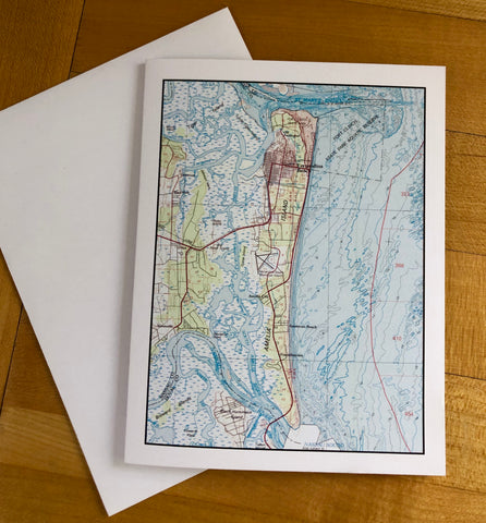 "Amelia Island Map Notecards (4.25""x5.5"")"