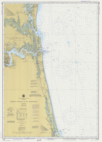 Amelia Island to St. Augustine Map 1978
