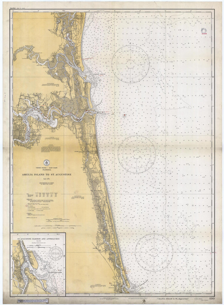 Amelia Island to St. Augustine Map 1933