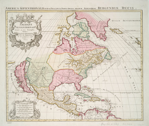North America Map 1694