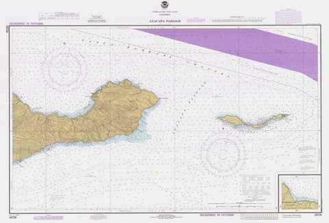 Anacapa Passage Map - 1981