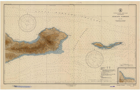 Anacapa Passage Map - 1946