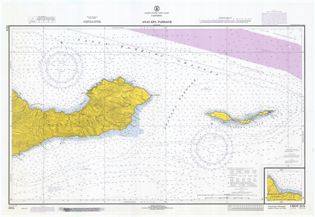 Anacapa Passage Map - 1971