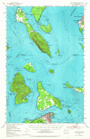 Anacortes Topographic Map - 1951