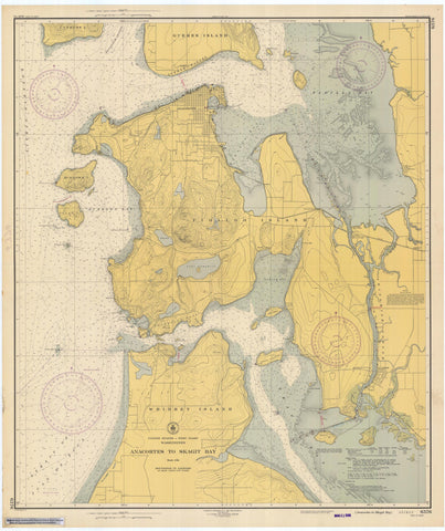 Anacortes to Skagit Bay Map - 1947