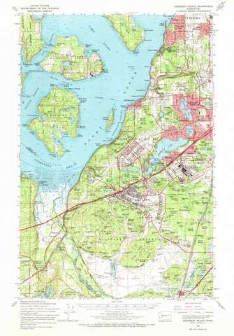 Anderson Island Topographic Map 1959