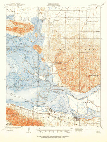 Antioch California Topographic Map 1908