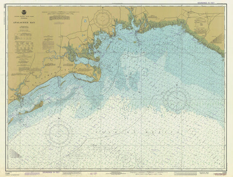 Apalachee Bay Map - 1982
