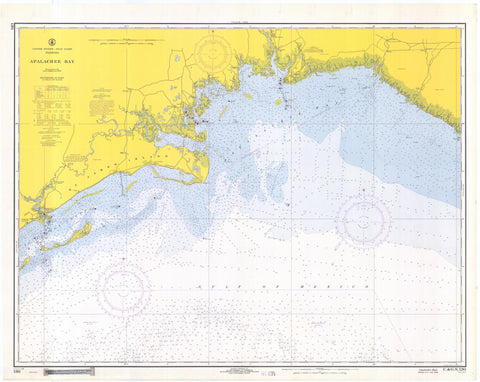 Apalachee Bay Map - 1968
