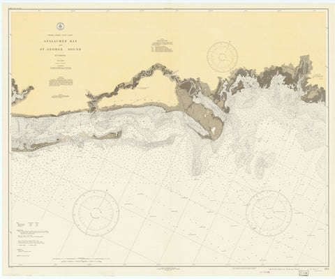 Apalachee Bay & St. George Sound (Florida) Historical Map - 1936