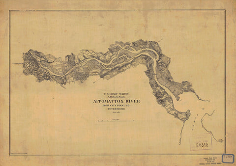 Appomattox River Map 1864