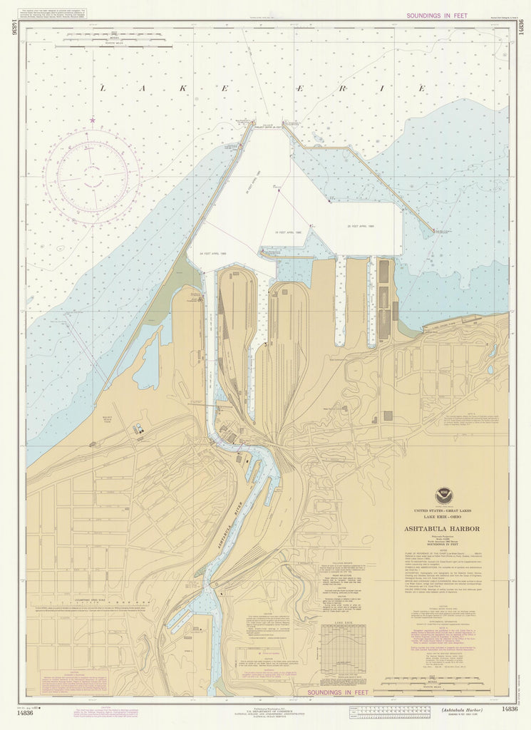 Ashtabula Harbor Map 1985