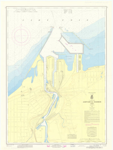 Ashtabula Harbor Map 1968
