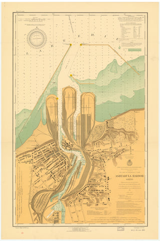 Ashtabula Harbor Map 1924