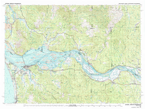 Astoria Oregon Topographic Map - 1981