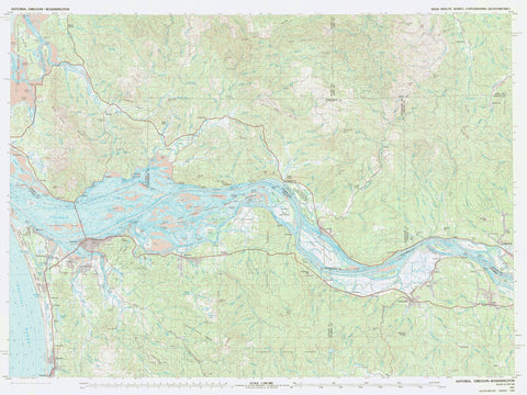 Astoria Bathymetric Fishing Map 1981